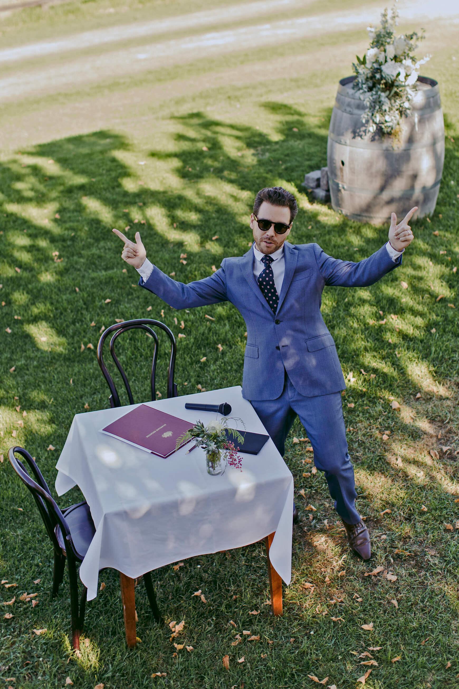 Fun Yarra Valley Wedding Celebrant - Riverstone Estate Winery
