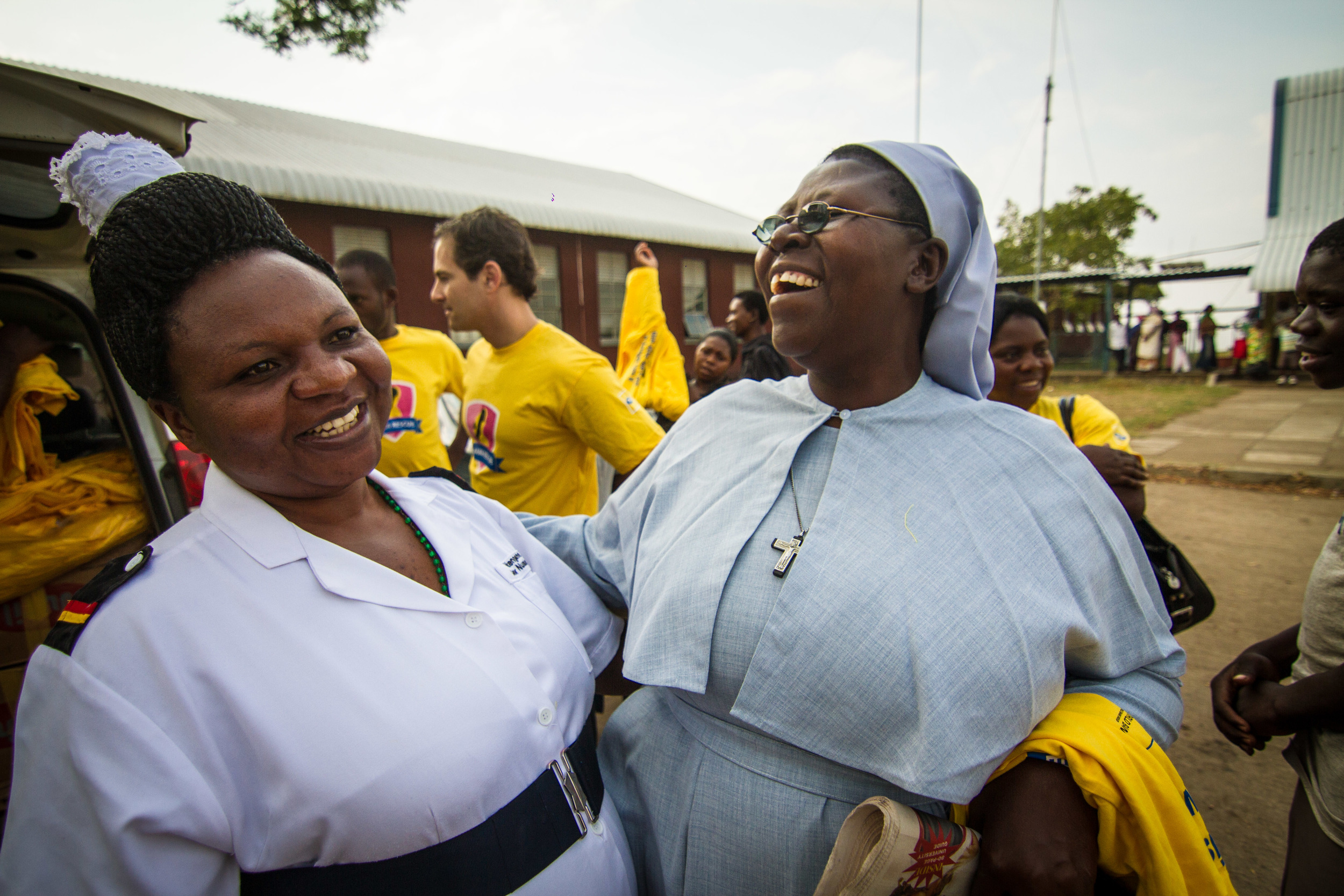 106 midwivesand nurses are using the mama rescue systemEVERY DAY. Zebia (Left) is the head nurse at Bwera Hospital, one of our referral sites.