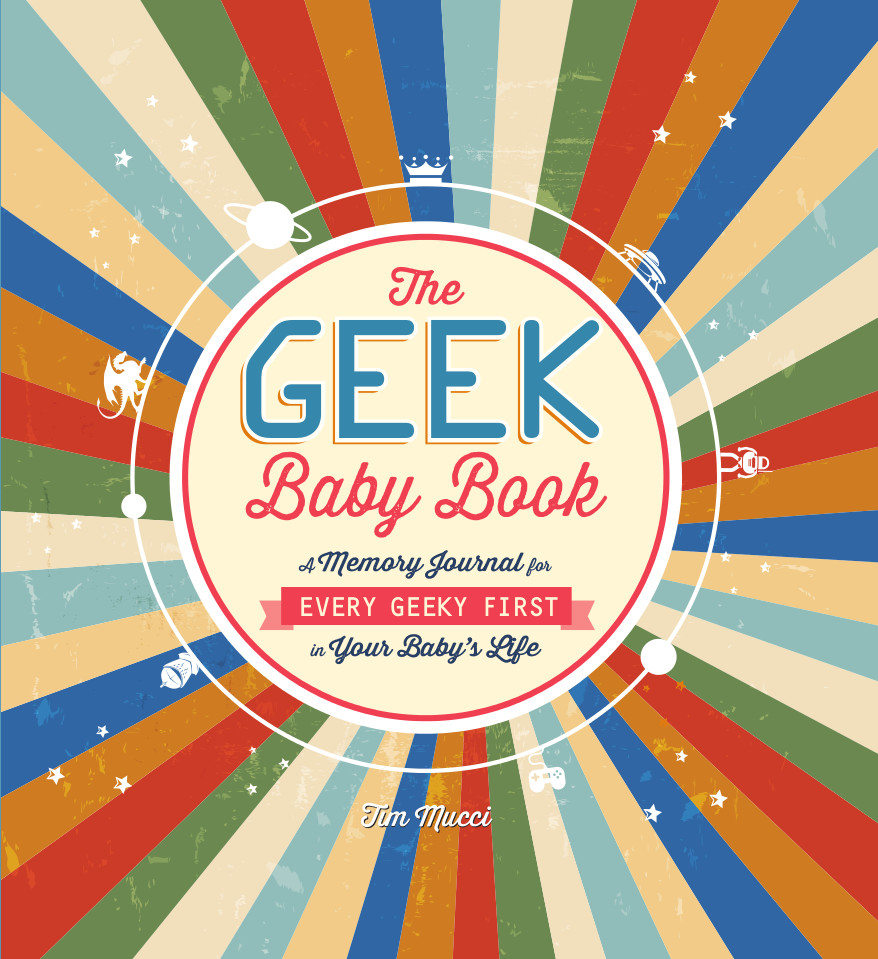 Celebrate your baby's first encounters with Geekdom!  Forget your baby's first tooth, steps, and words!   The Geek Baby Book   captures all the details that would make any video game playing, fantasy-loving parent proud. Featuring character sheets, superpower quizzes, and even instructions for a Cthulhu sock puppet, this book inspires you to record the memories that truly matter in a 0-level human's life. Each interactive page encourages you to create a unique snapshot of your baby's first years--one that the whole family will love when the little geek-in-training levels up.   Buy it Now!
