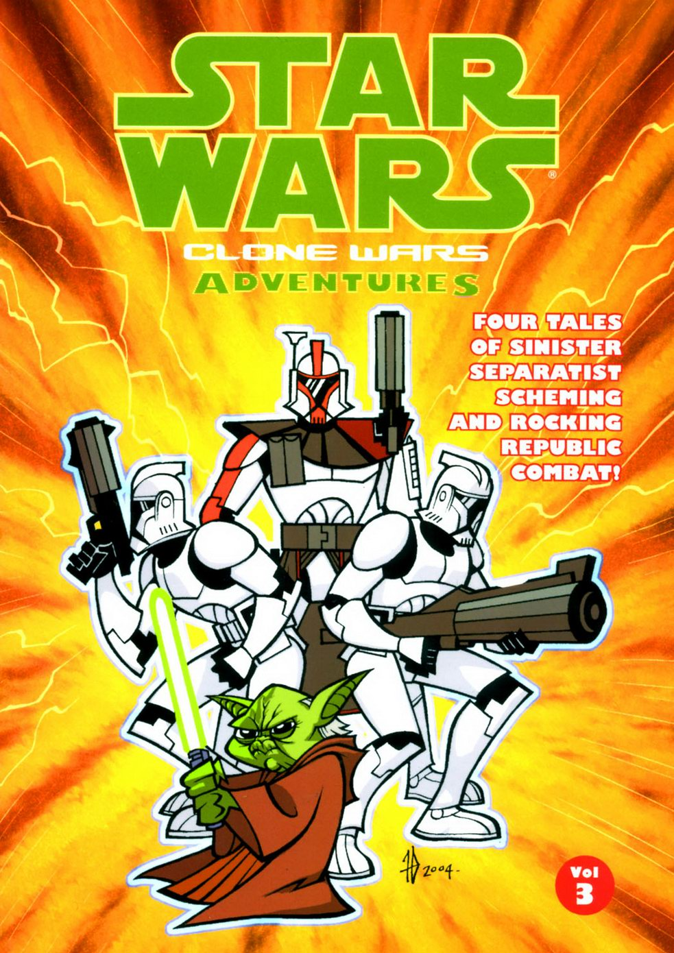 "My story ""One Battle"", which features Separatist Commandos fighting against a droid army is included in this volume.  As the Clone Wars continue to rock the Star Wars universe, the Republic's forces, led by the Jedi, find themselves drawn ever-deeper into Darth Sidious' evil web. With stories covering all aspects of the Clone Wars - from the trials of the revered Jedi Master Yoda, to the tribulations of the lowliest Clone Troopers fighting on the front lines, to the wicked machinations of the dreaded Count Dooku and General Grievous - these fast-paced tales feature a unique look into the world of Star Wars and at the events that shook the galaxy far, far away...   Buy it here!"