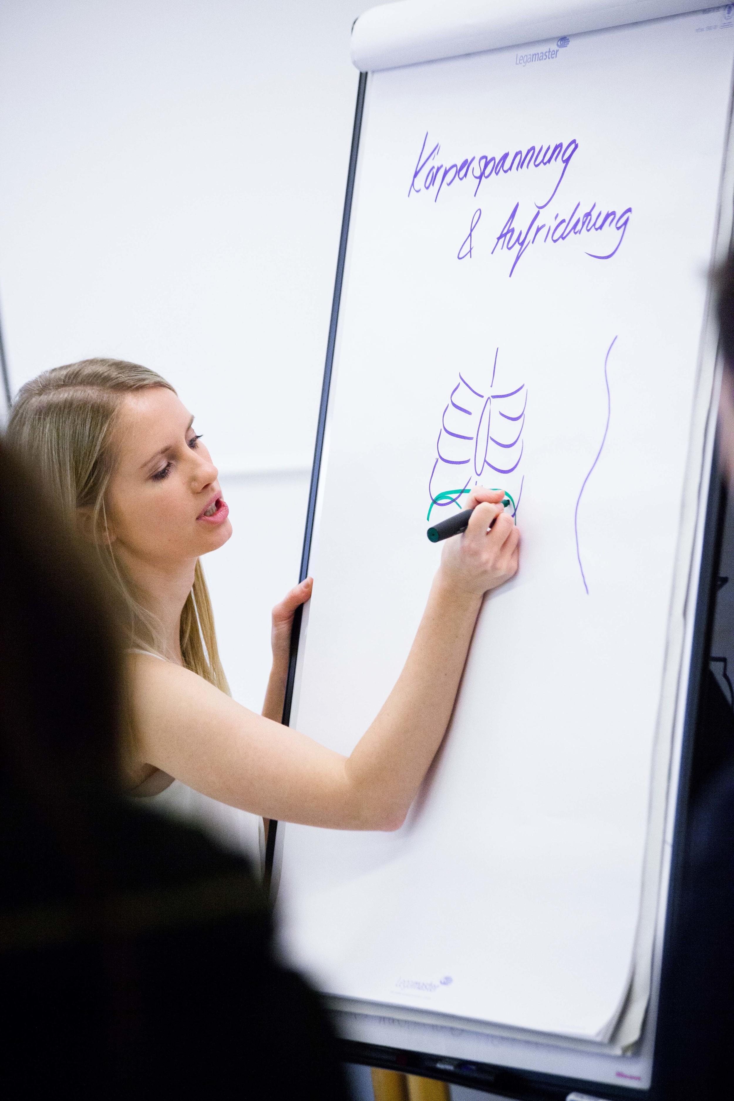 Viel Praxis ergänzt durch theoretische Aspekte führen zu einem wirksamen Stimmtraining.