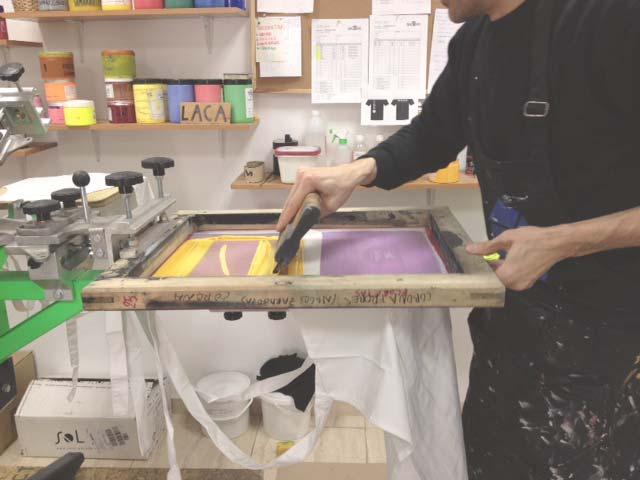 screen-printing aprons in  Baobag  ,