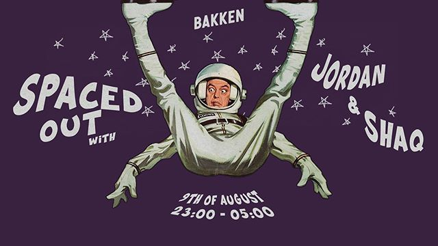 "Tonight! ""Spaced Out"" w. @jordannocturne & @shaqcph 📡 flyer: @cone.wav"