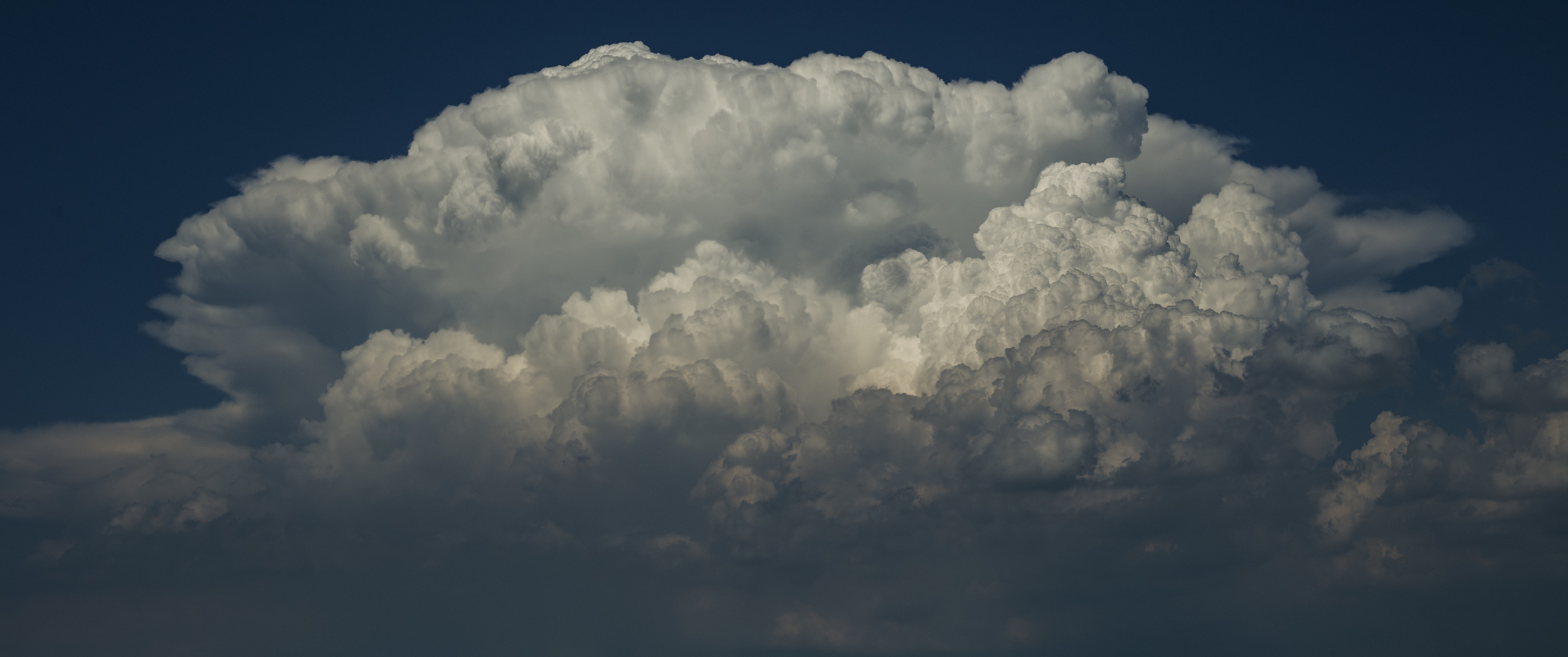 Detailed view of a Cumulonimbus calvus cell starting to form.