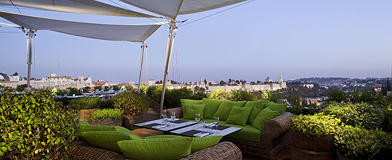 Our stylish hotel in Jerusalem, with commanding views of the city