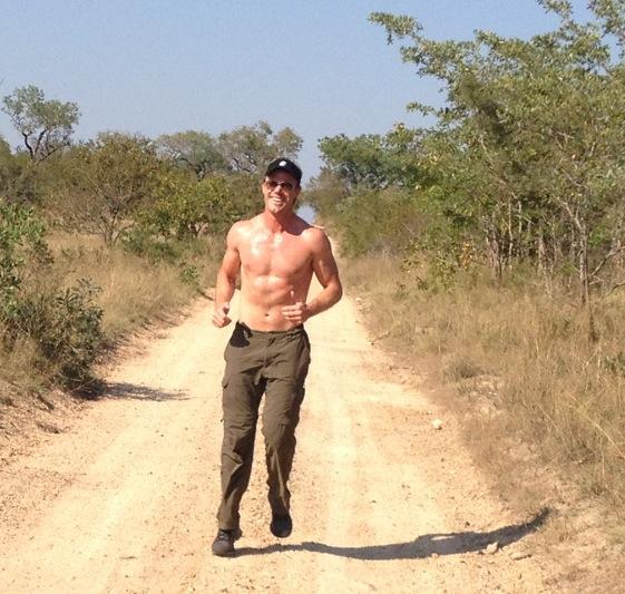 Bryan trains for the Marathon in Kruger National Park
