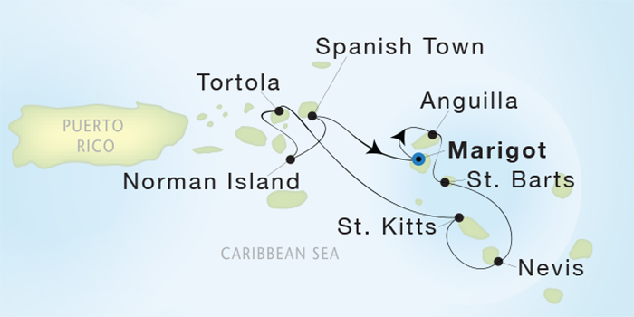 St. Barts, Norman Island, Anguilla,what's not to like!