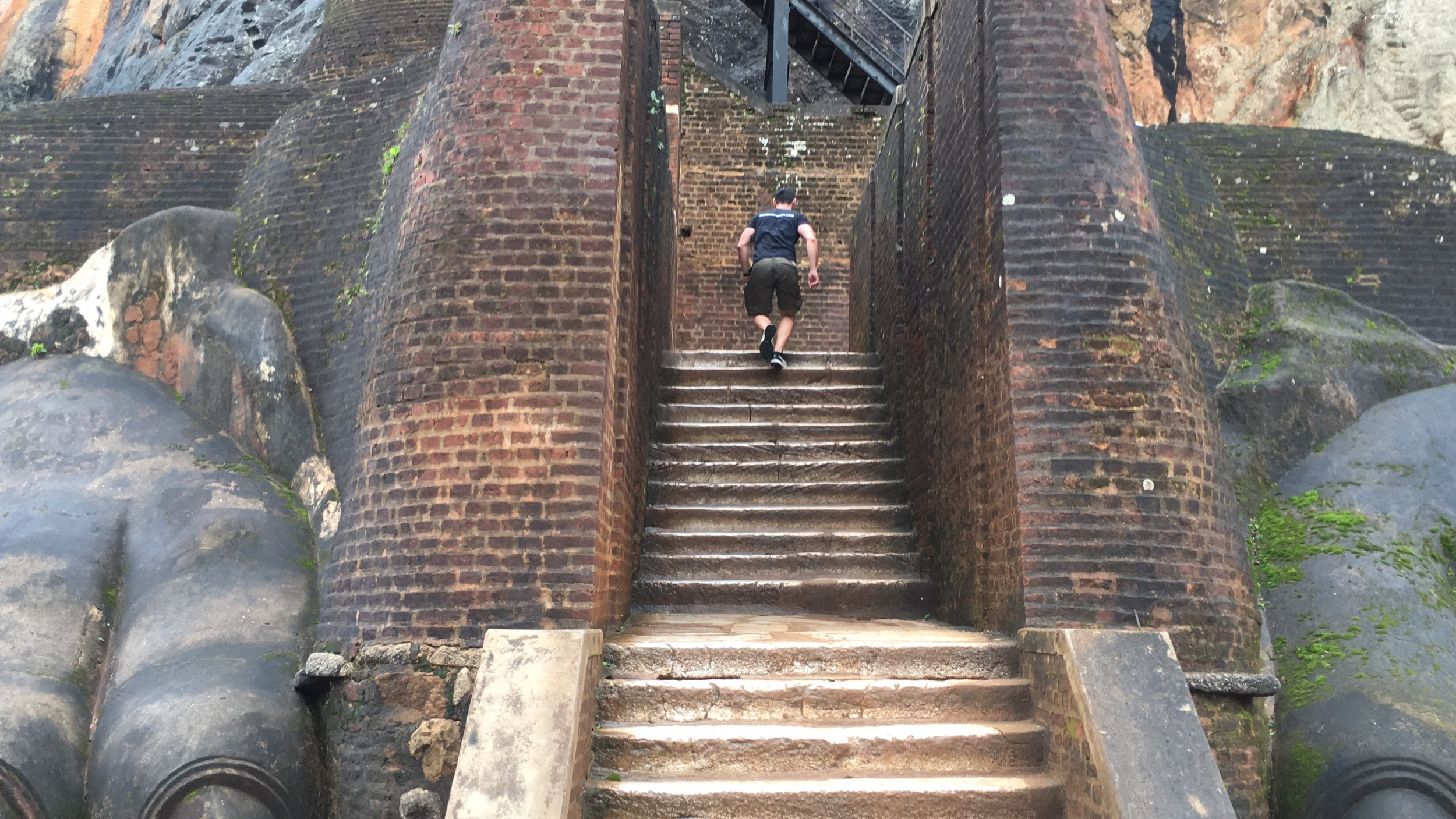 The entrance to the ancient Citadel of Sigiriya