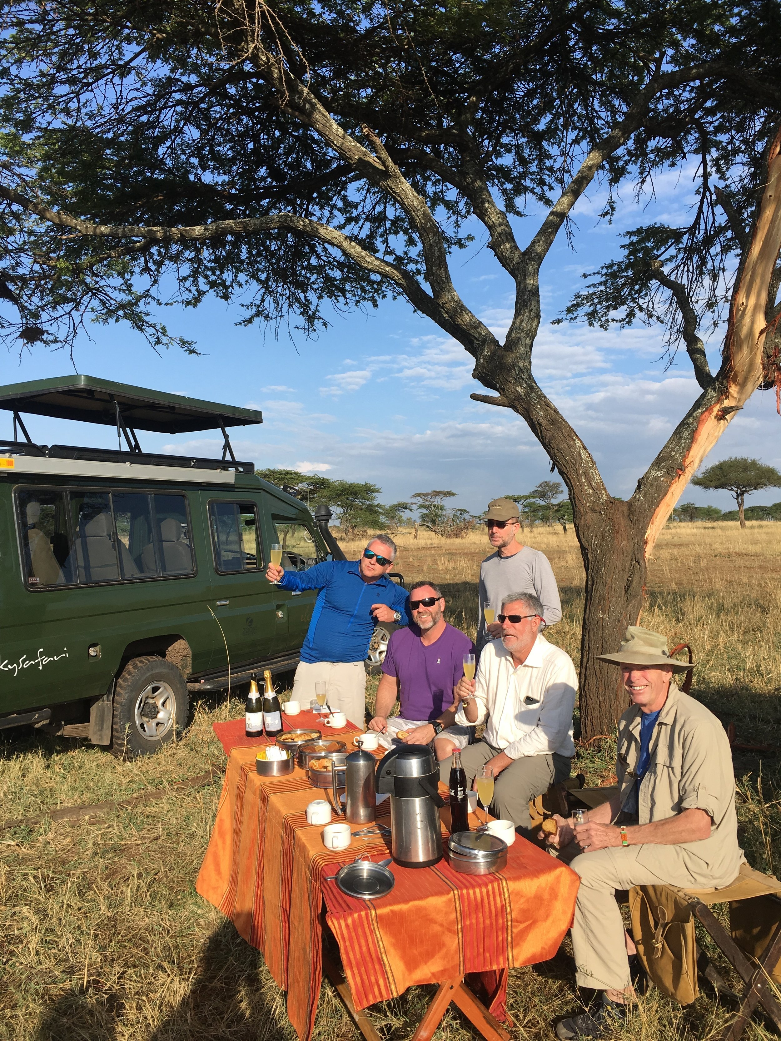Staying well-nourished while on safari.