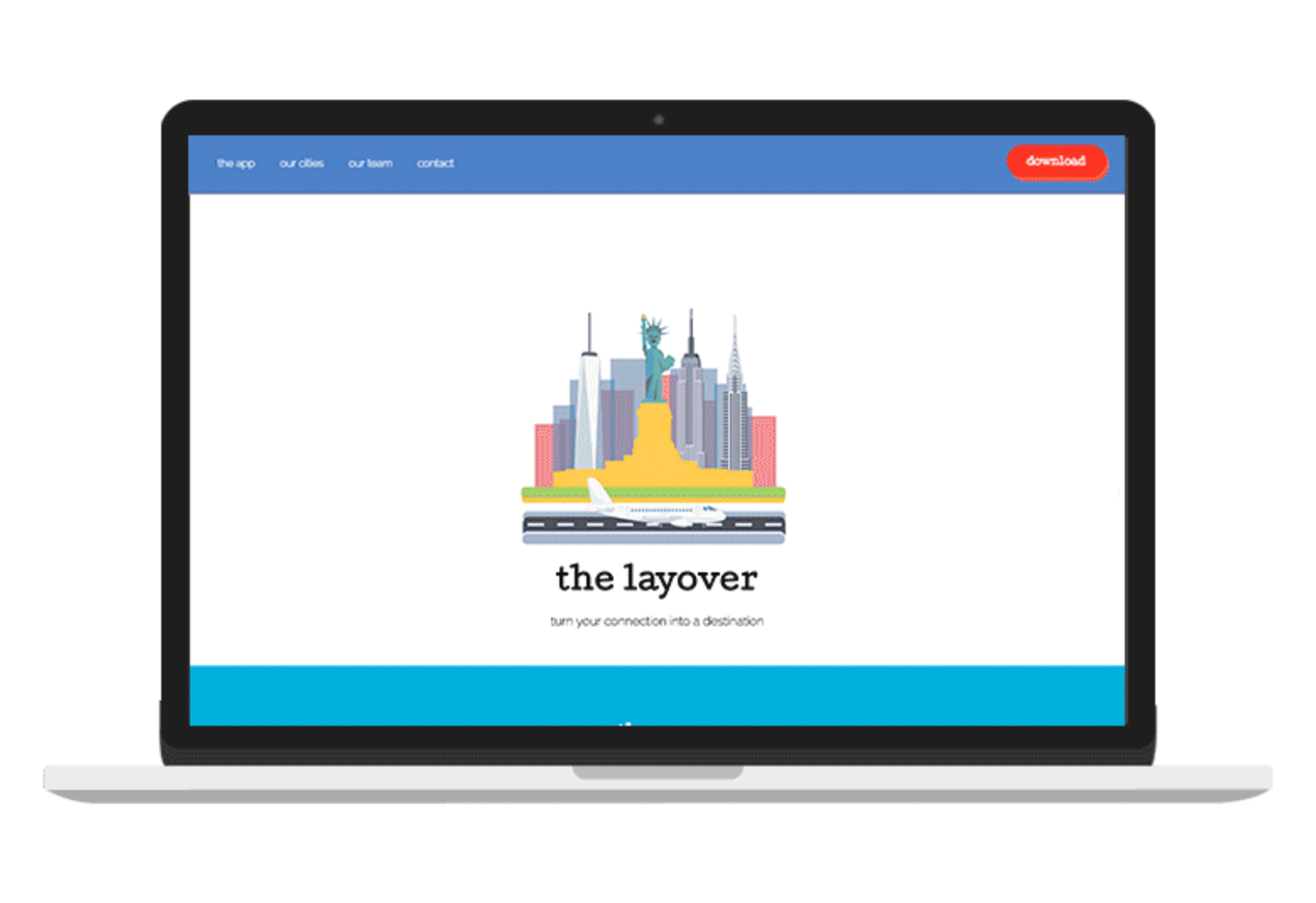 The Layover Landing Page Design - interaction design // Visual Design // front-end Development