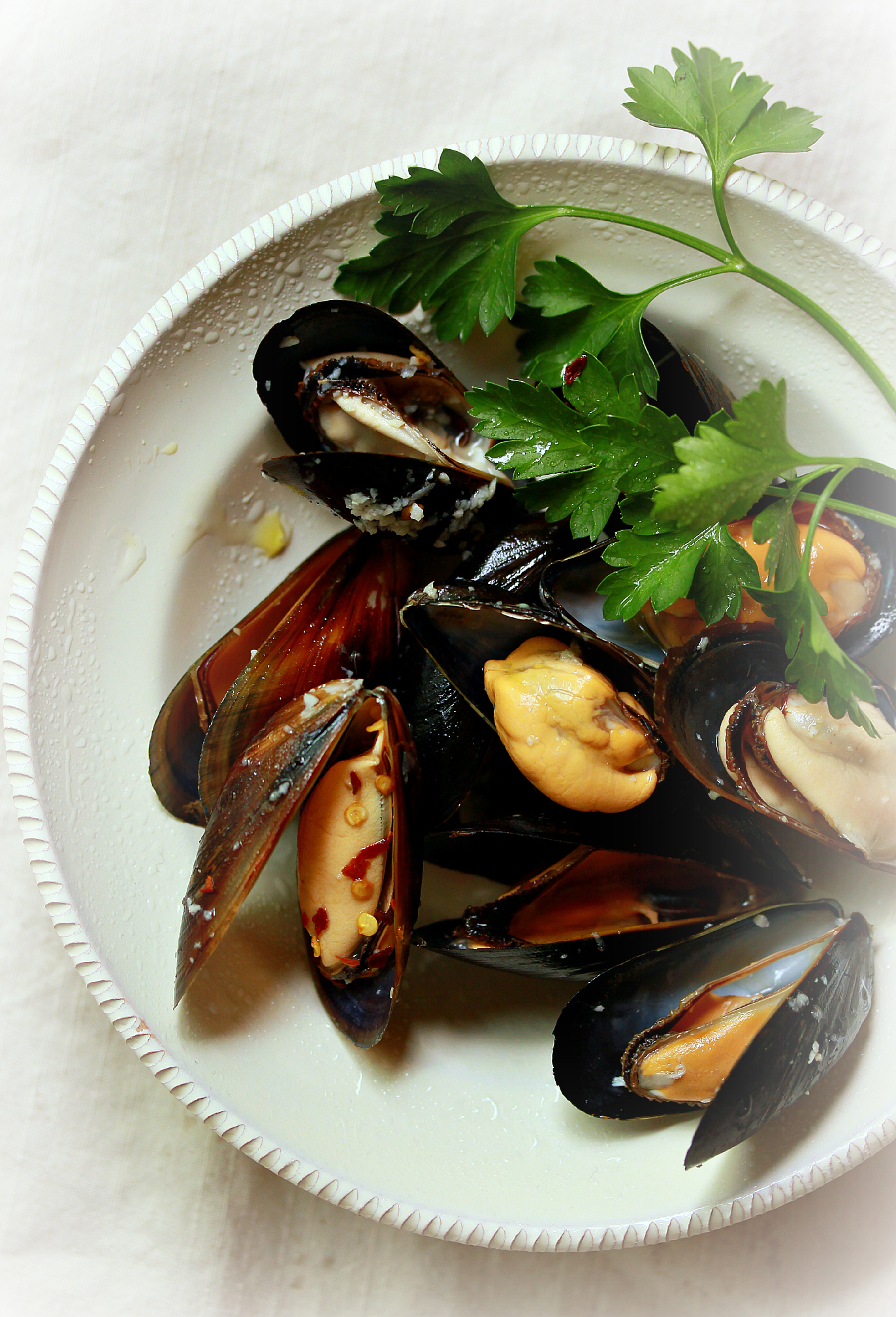 Steamed Mussels with Parsley by Dena T Bray