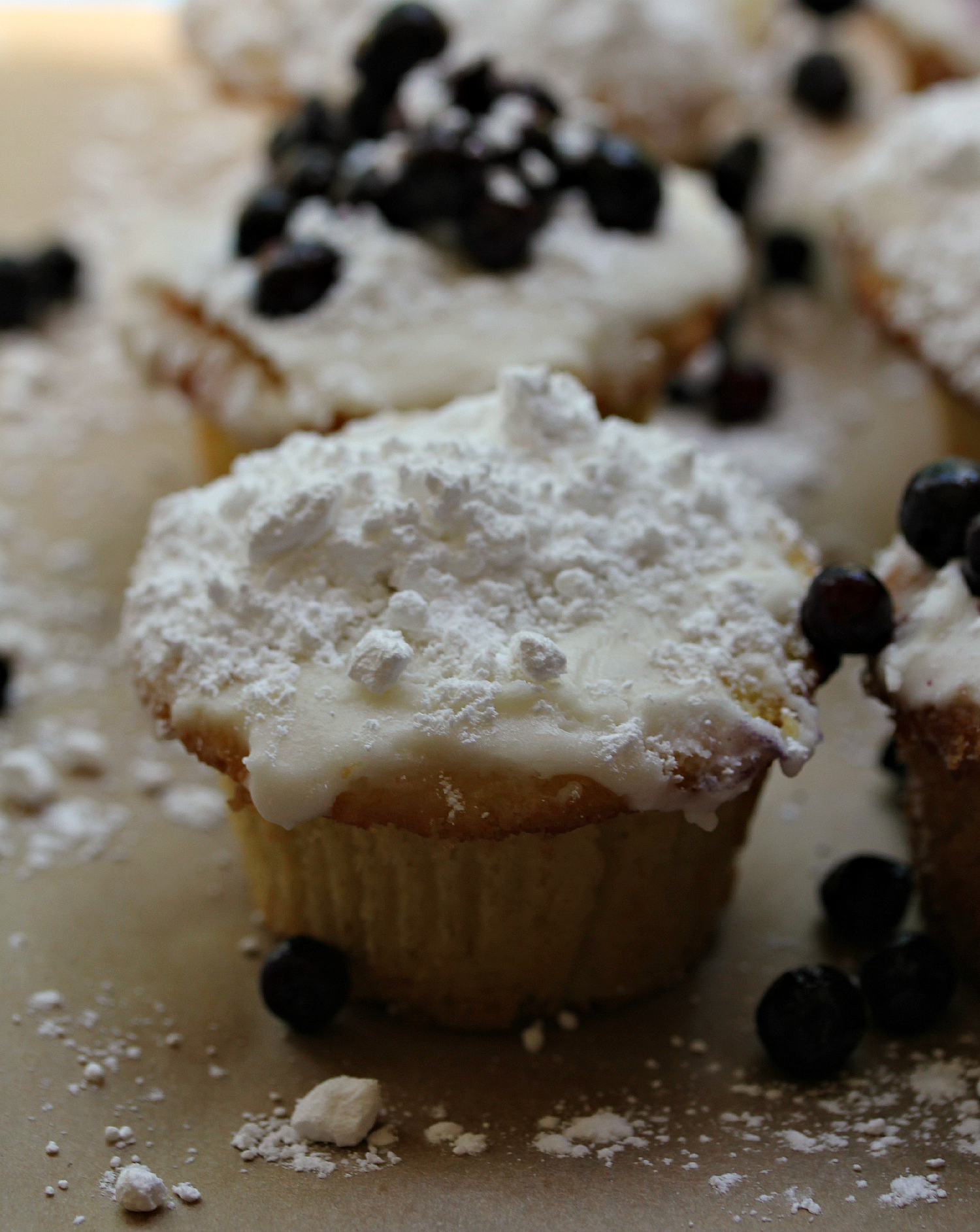 Lemon and Blueberry Cupcakes by Dena T Bray