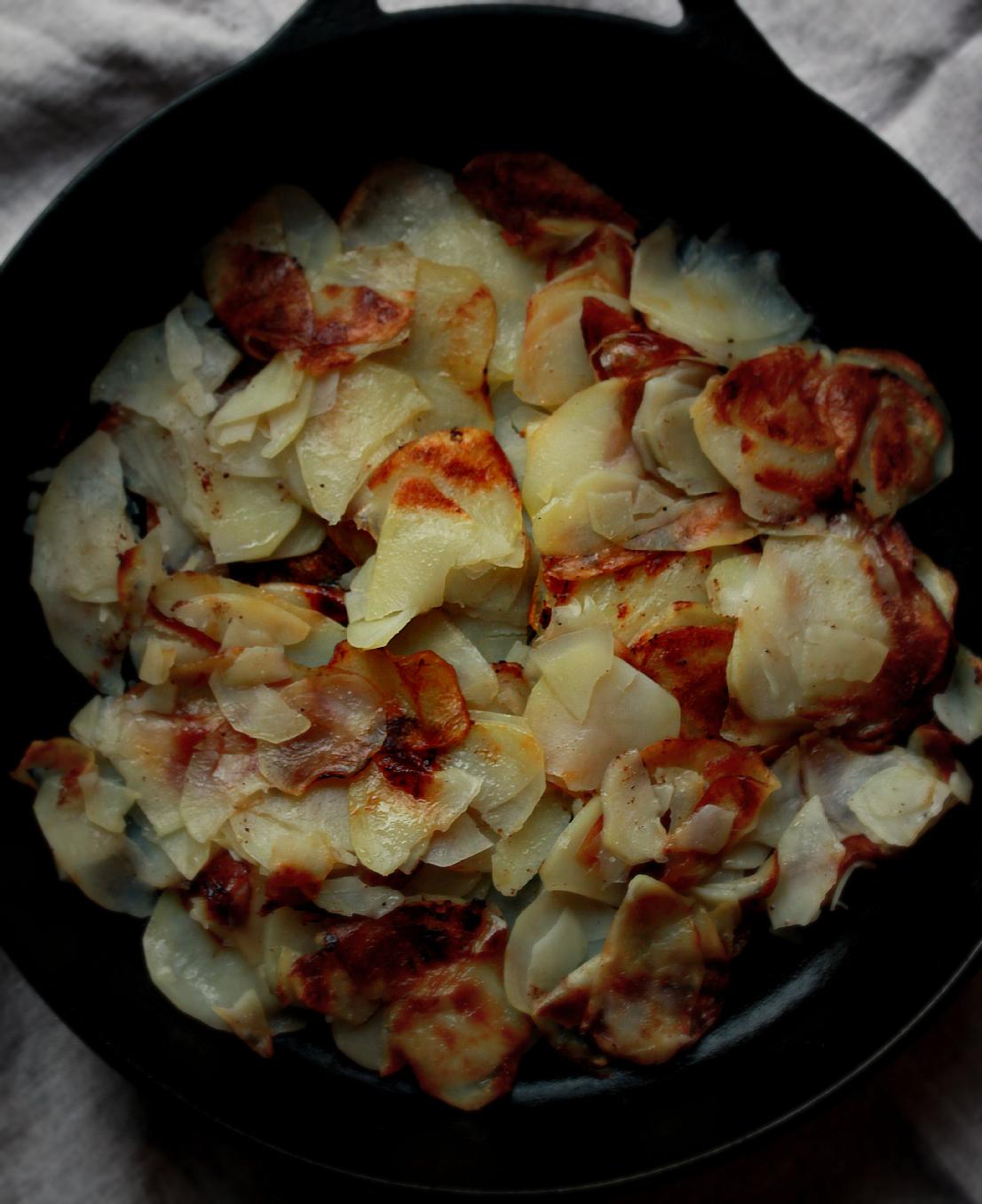 Crispy Potato Cake by Dena T Bray