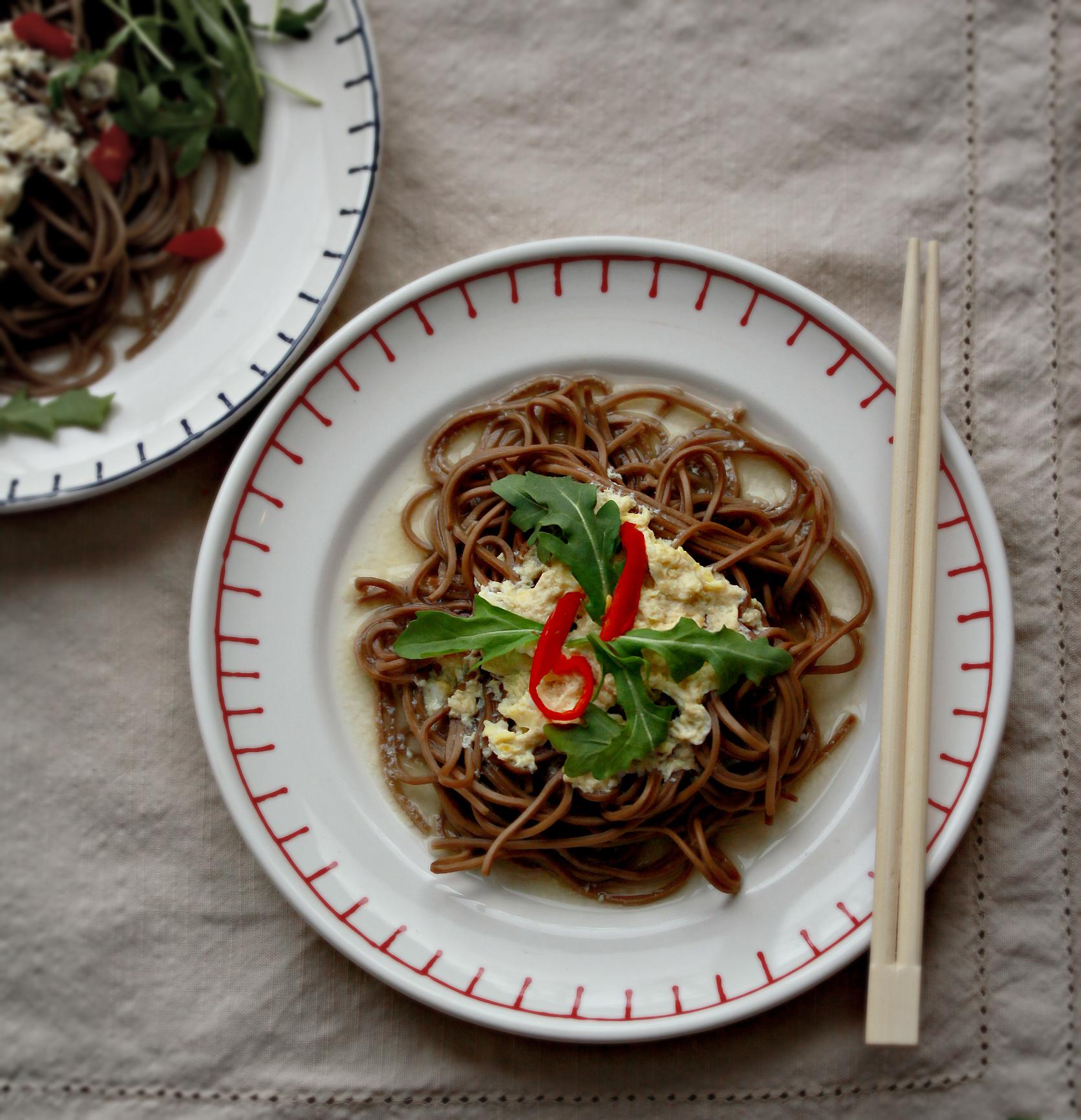 ©Egg Drop Soba Noodles by Dena T Bray