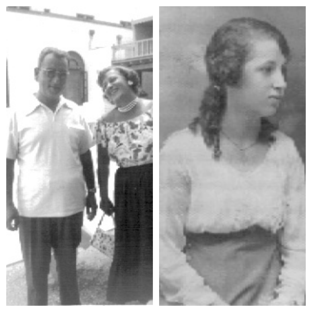 My grandparents, Herman & Rachel Zacharia. Date unknown. Rachel as a girl, approximately 1915.