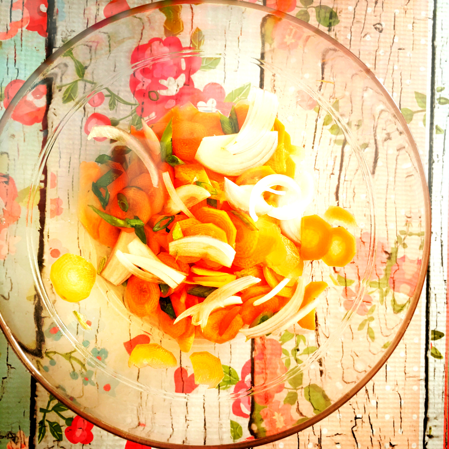 ©Carrots in Bowl with Flowers by Dena T Bray.jpg