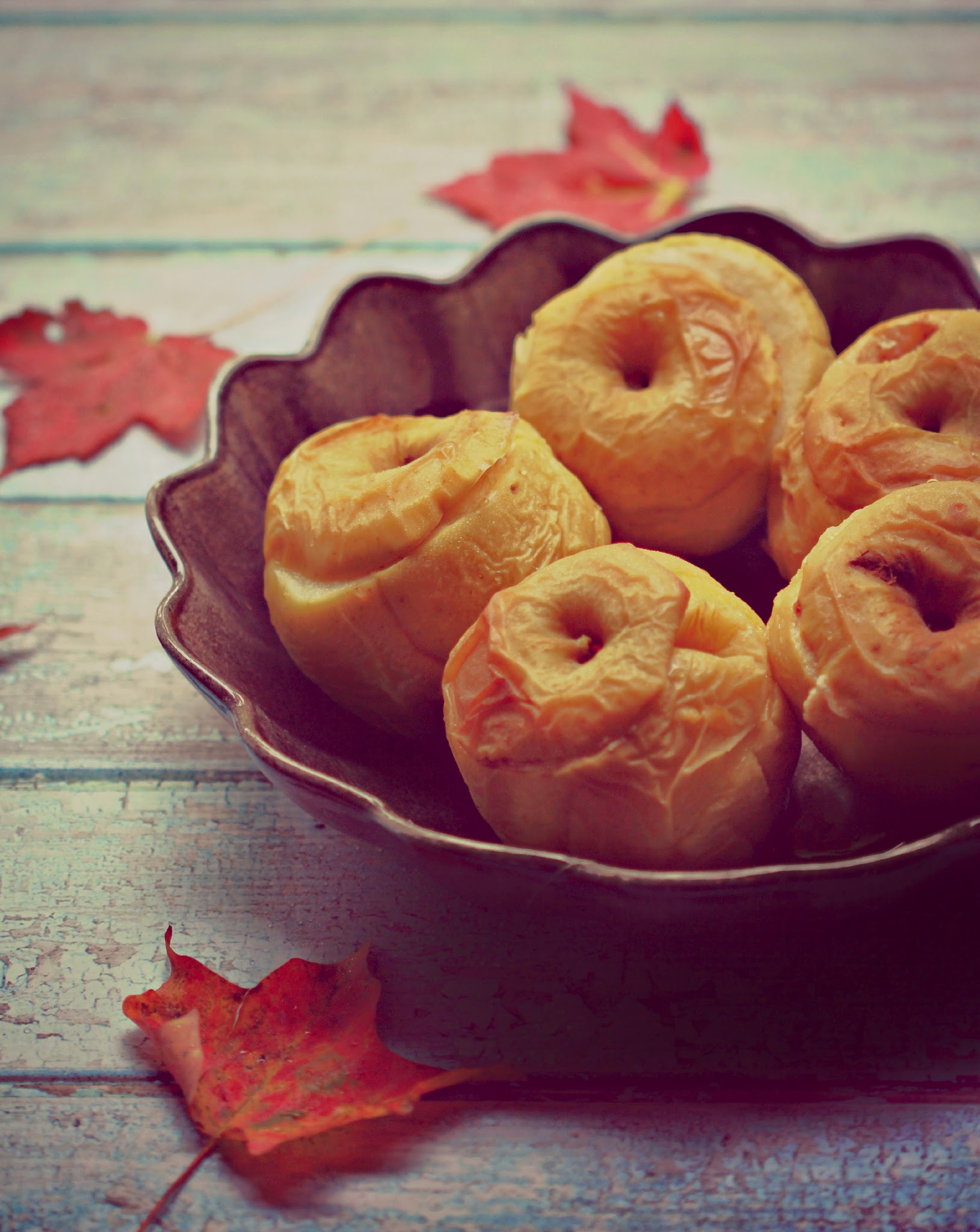 Baked Apples - Filled with nuts, spices, ginger & honey.