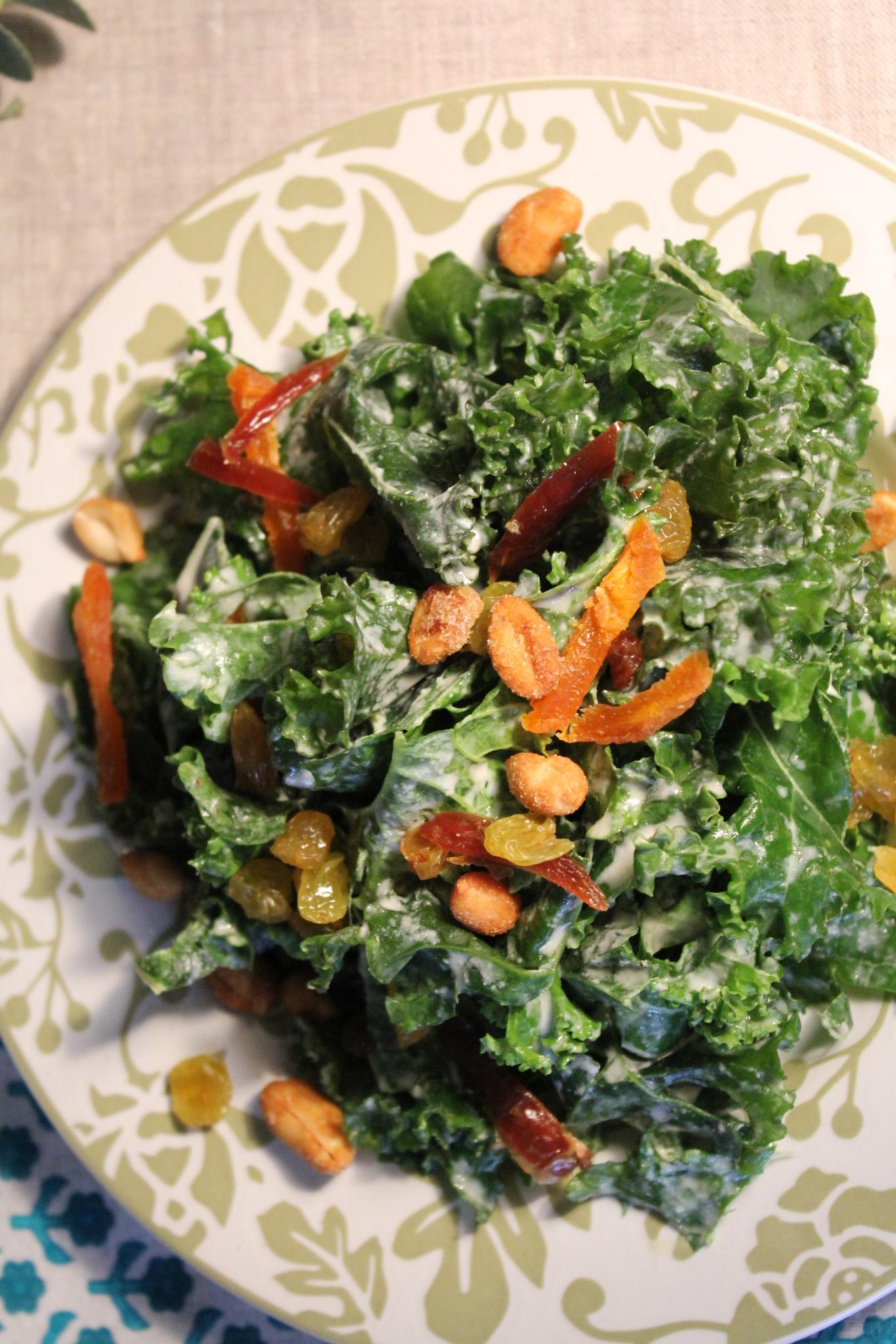 Kale with Tahini & Lime -