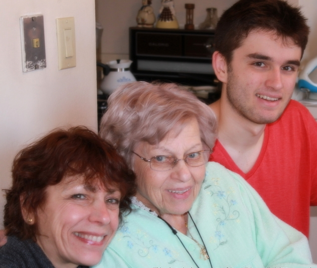 Me. My mom, Stella. And my son Clark. 2011