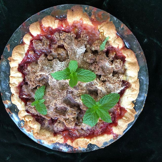 Strawberry Rhubarb Pie. A perfect summer dessert. Coming shortly on Gathering Flavors. #pie! #gatheringflavors #strawberry season