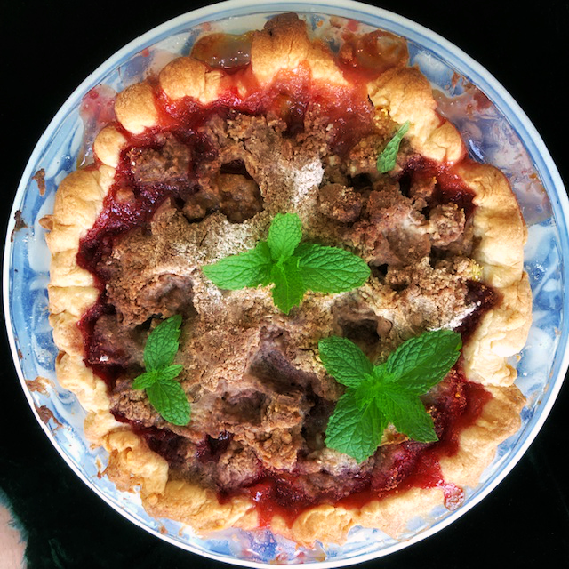 Strawberry Rhubarb Pie - Yield: One 9-inch Deep Dish Pie, About 8 Servings