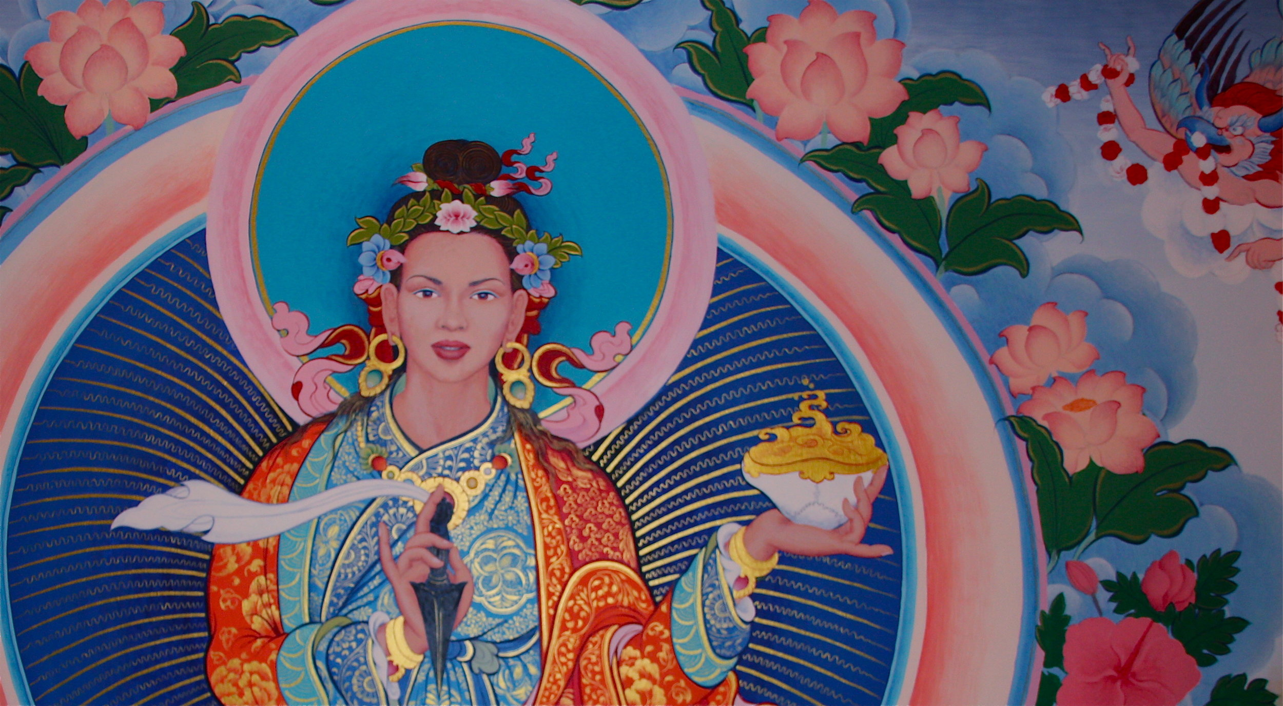 Yeshe Tsogyel, 8th century Buddhist Siddha and master of Tantra and Dzogchen.