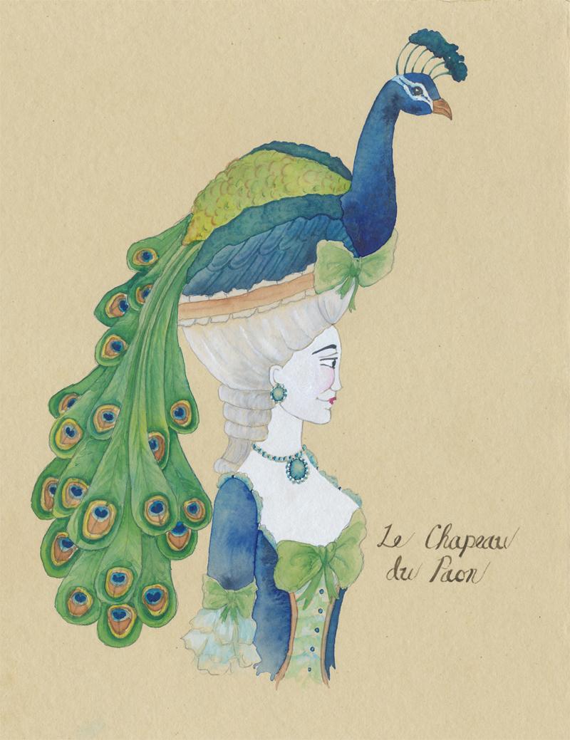 Custom peacock chapeau