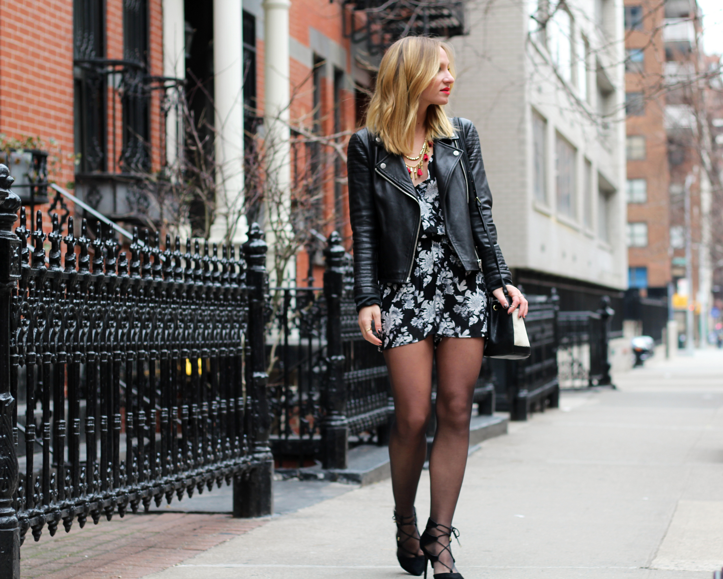 valentines day outfit ideas date night looks black tights with romper look topshop lace-up shoe