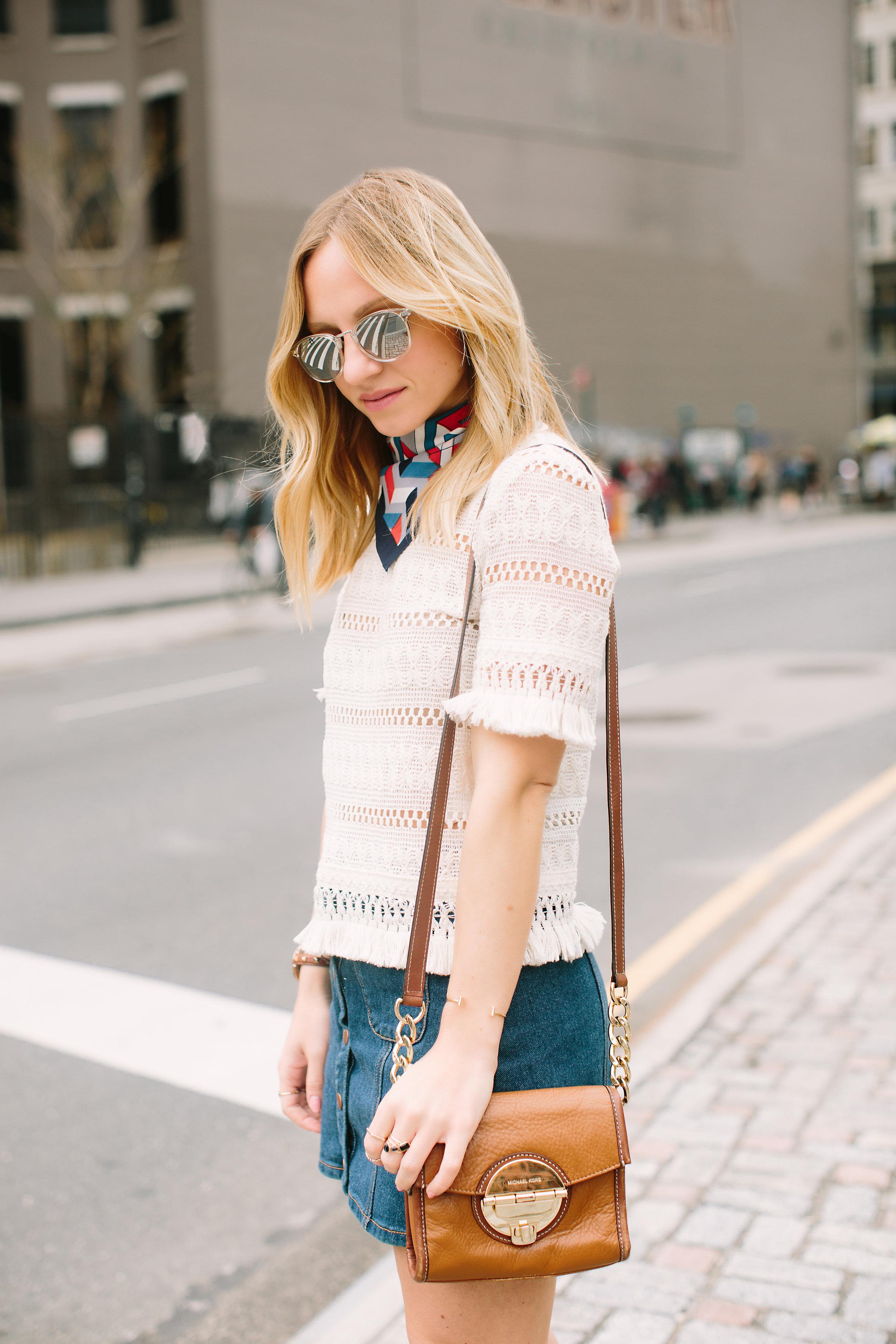 knit fringe top