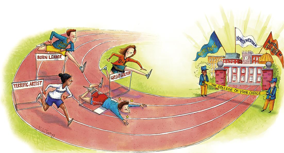 INSIDE SPORTS MAGAZINE editorial illustration