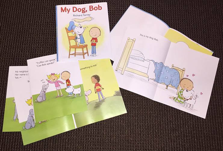Loose pages from MY DOG, BOB/Holiday House Publishers