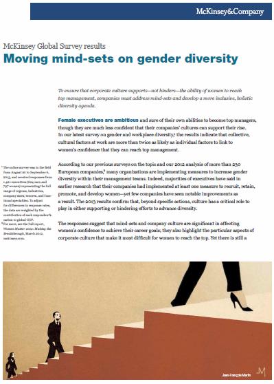 Moving mind-sets on gender diversity: McKinsey Global Survey results