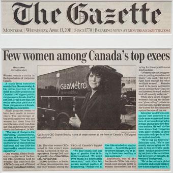 Few women among Canada's top execs