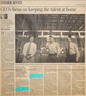 CEOs focus on keeping the talent at home