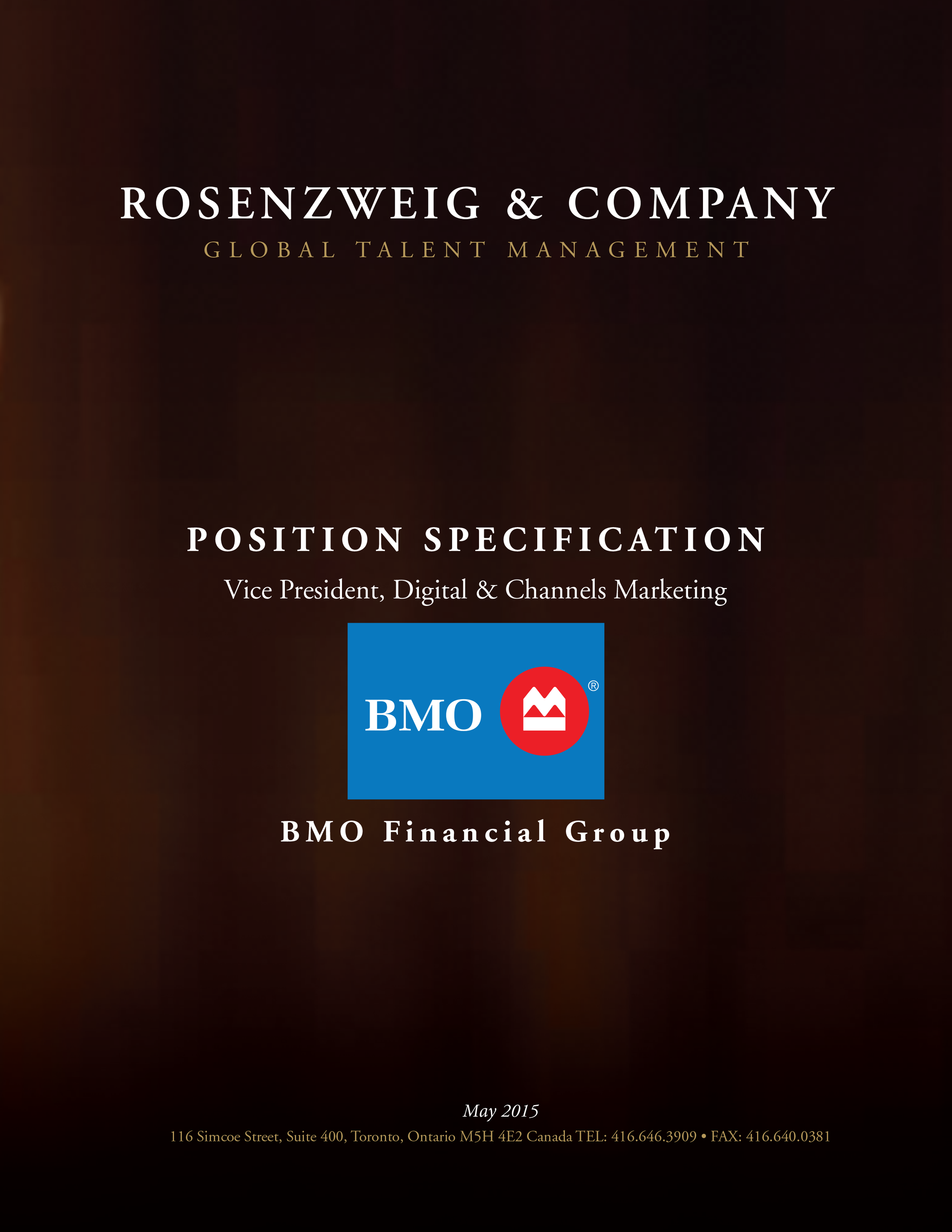 BMO - Vice President, Digital & Channels Marketing