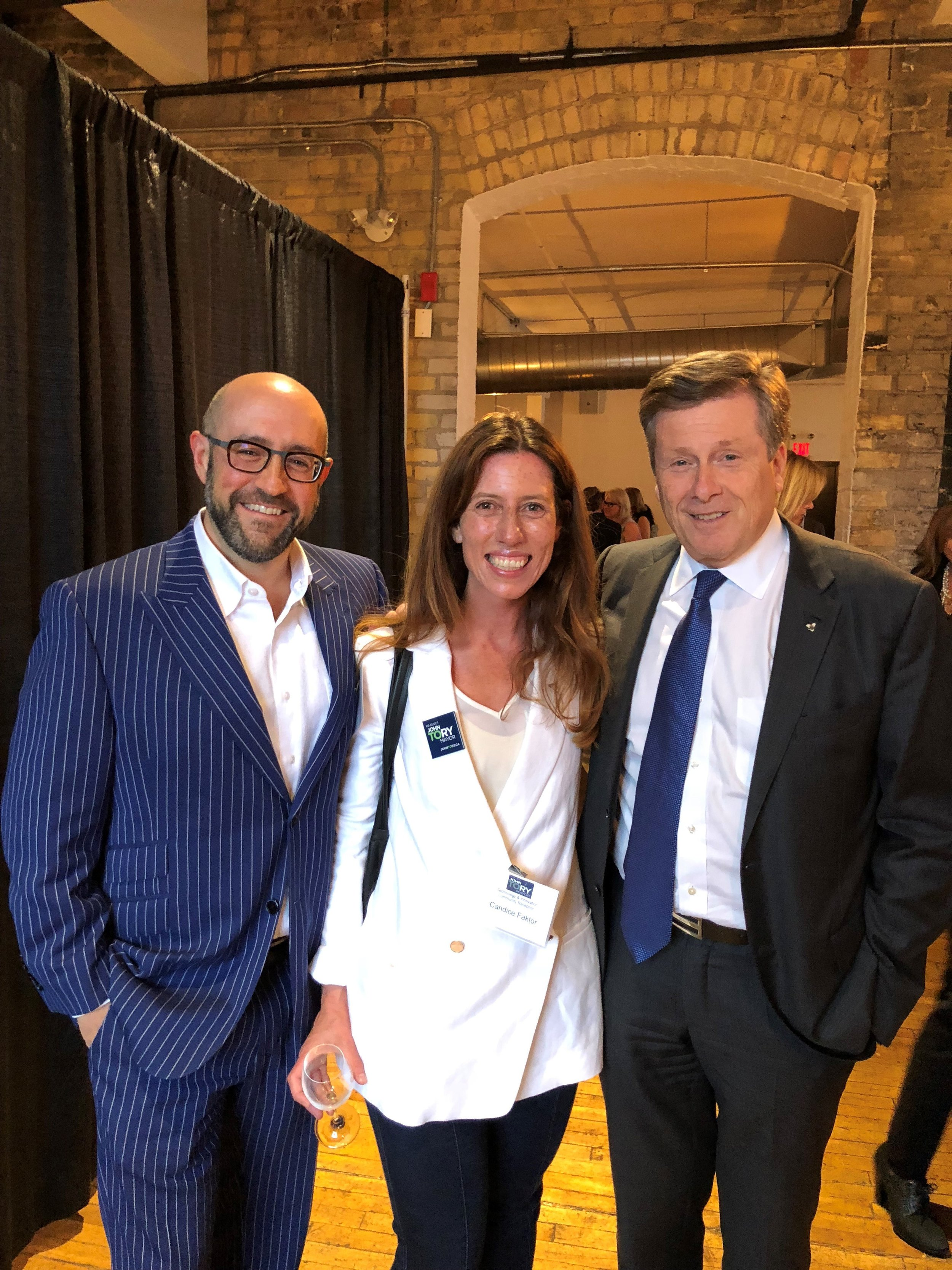 RCI - Jay Rosenzweig, Candice Faktor and Toronto Mayor John Tory 20180920.jpg