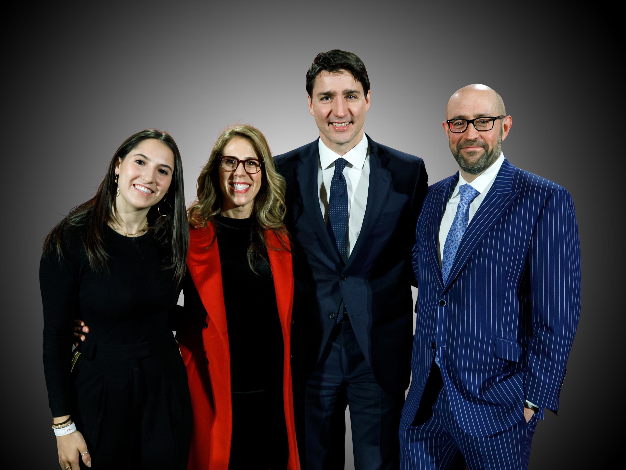 RCI - Justin Trudeau, Prime Minister of Canada, with Samantha Rosenzweig, Renee Rosenzweig, & Jay Rosenzweig - 20190211.JPG
