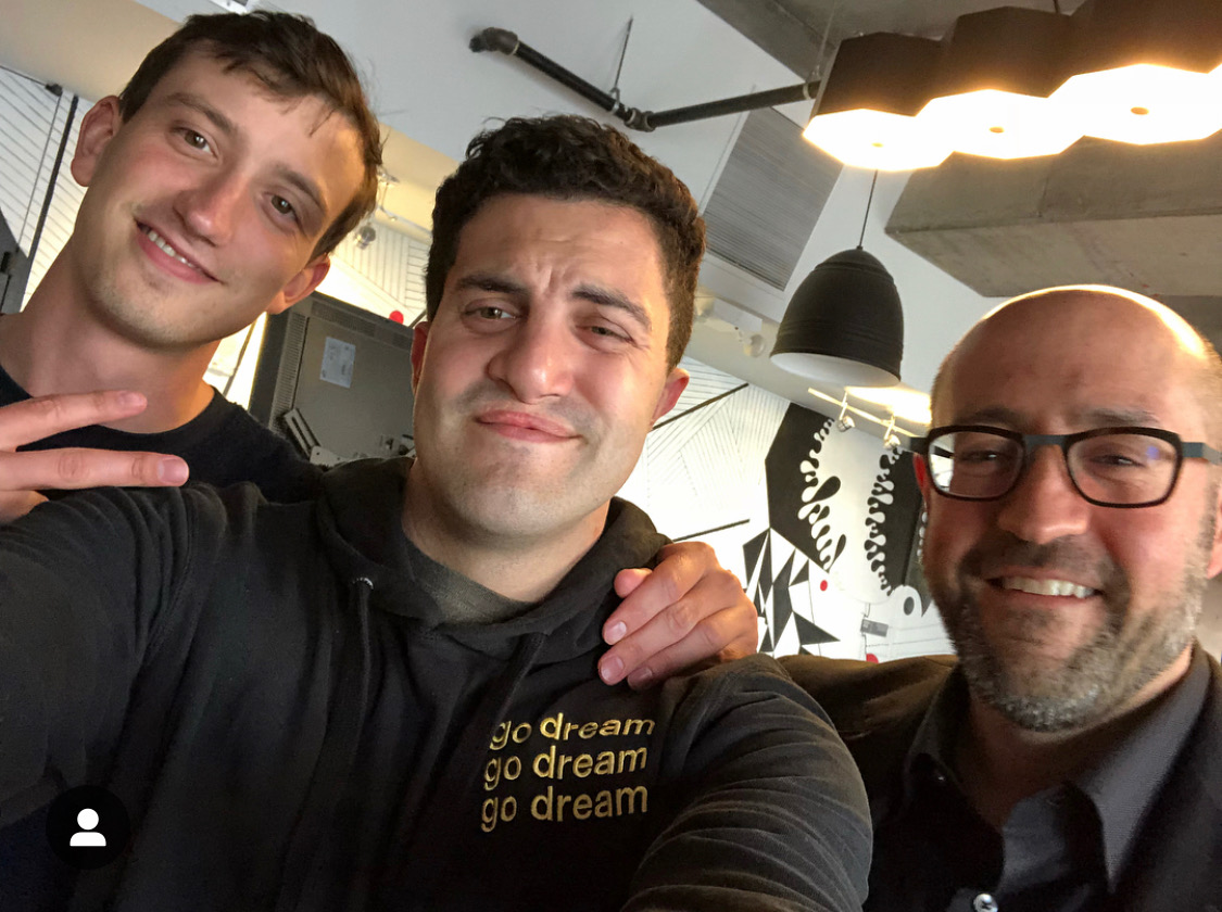 Tyler Schmitt, David Rock, Jay Rosenzweig at the offices of VaynerMedia 20190508.jpeg
