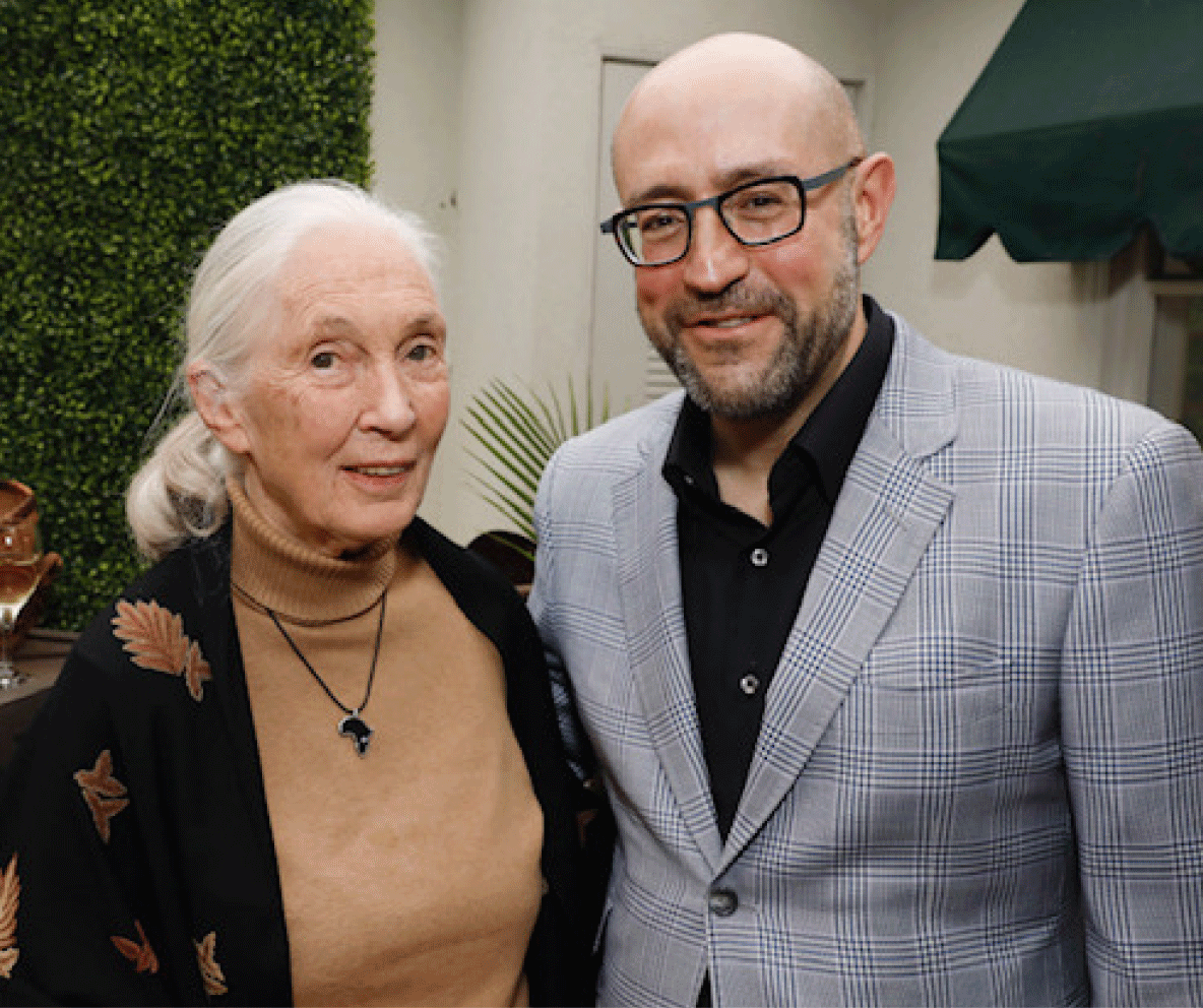 JAY ROSENZWEIG with Jane Goodall