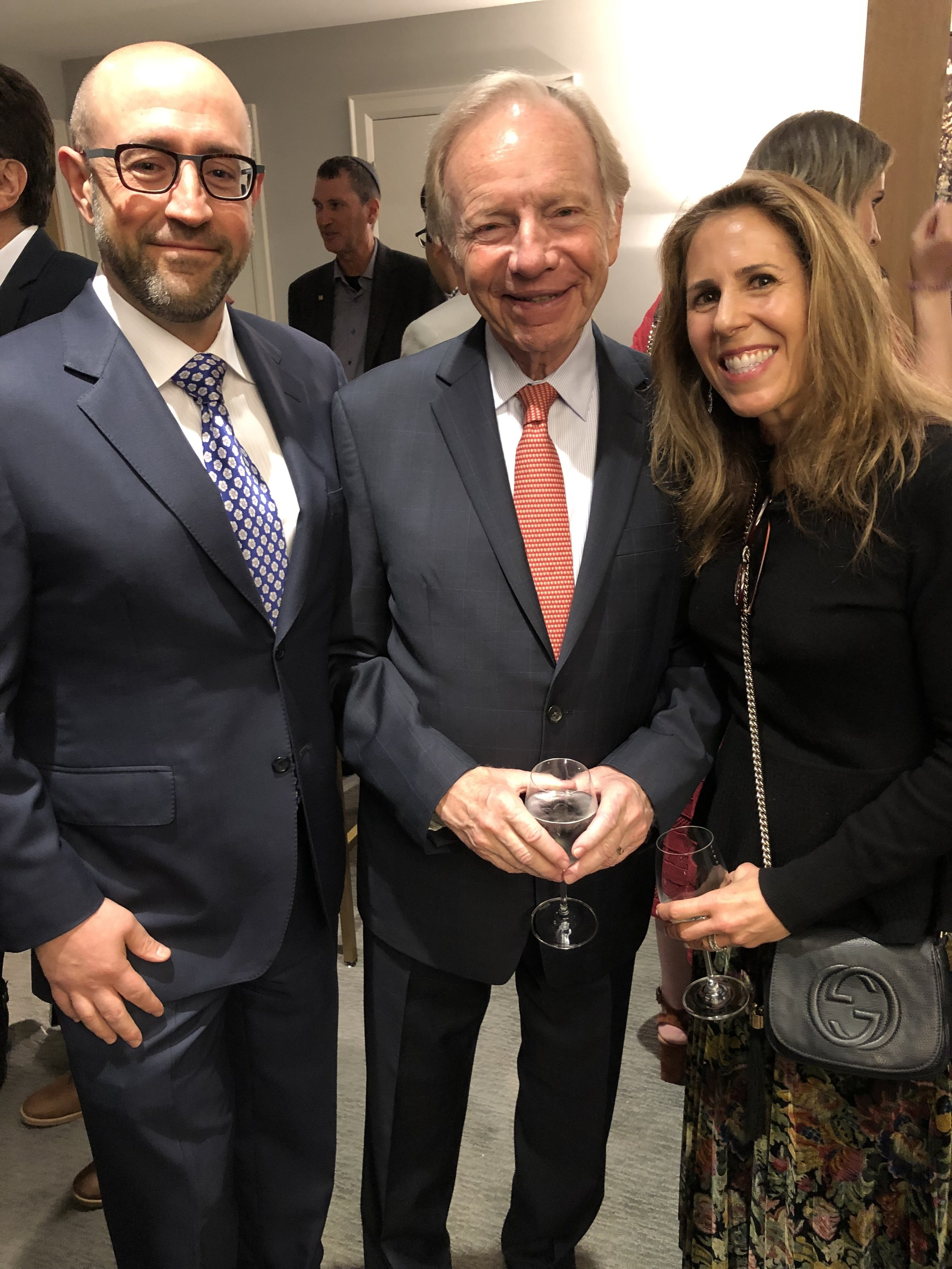 Jay & Renee Rosenzweig with former Democratic Party nominee for US Vice President, Senator.jpeg