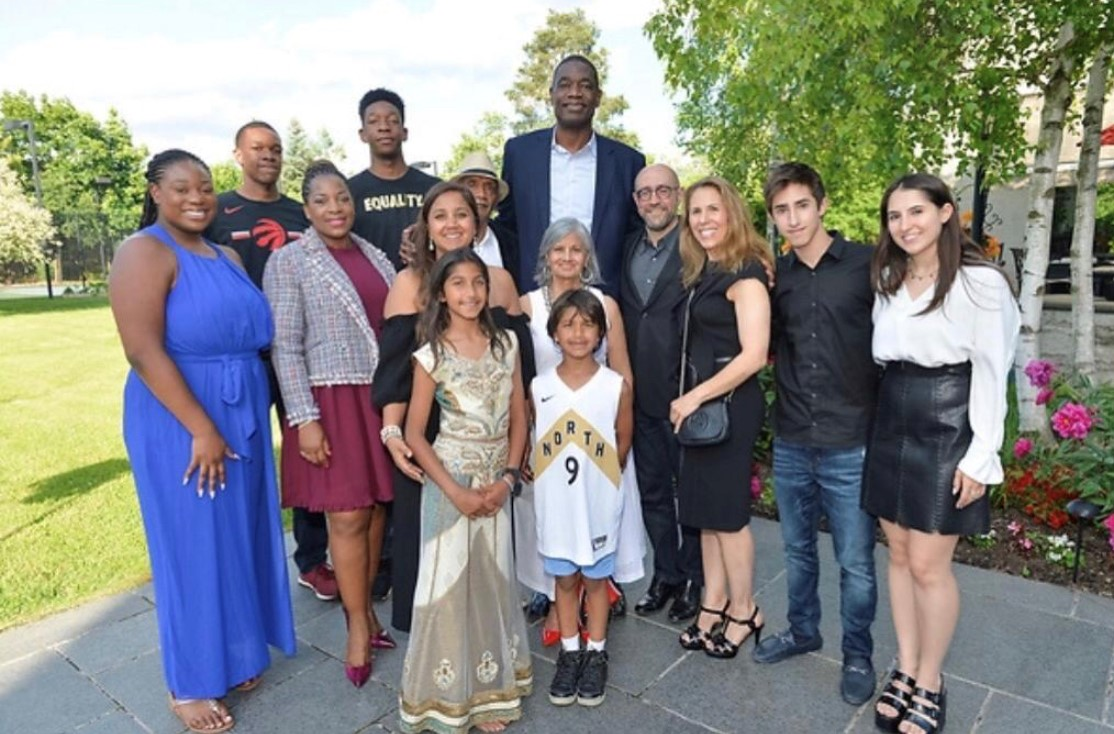 Jay Rosenzweig, Dikembe Mutombo, Navin Chandaria & Families.jpg
