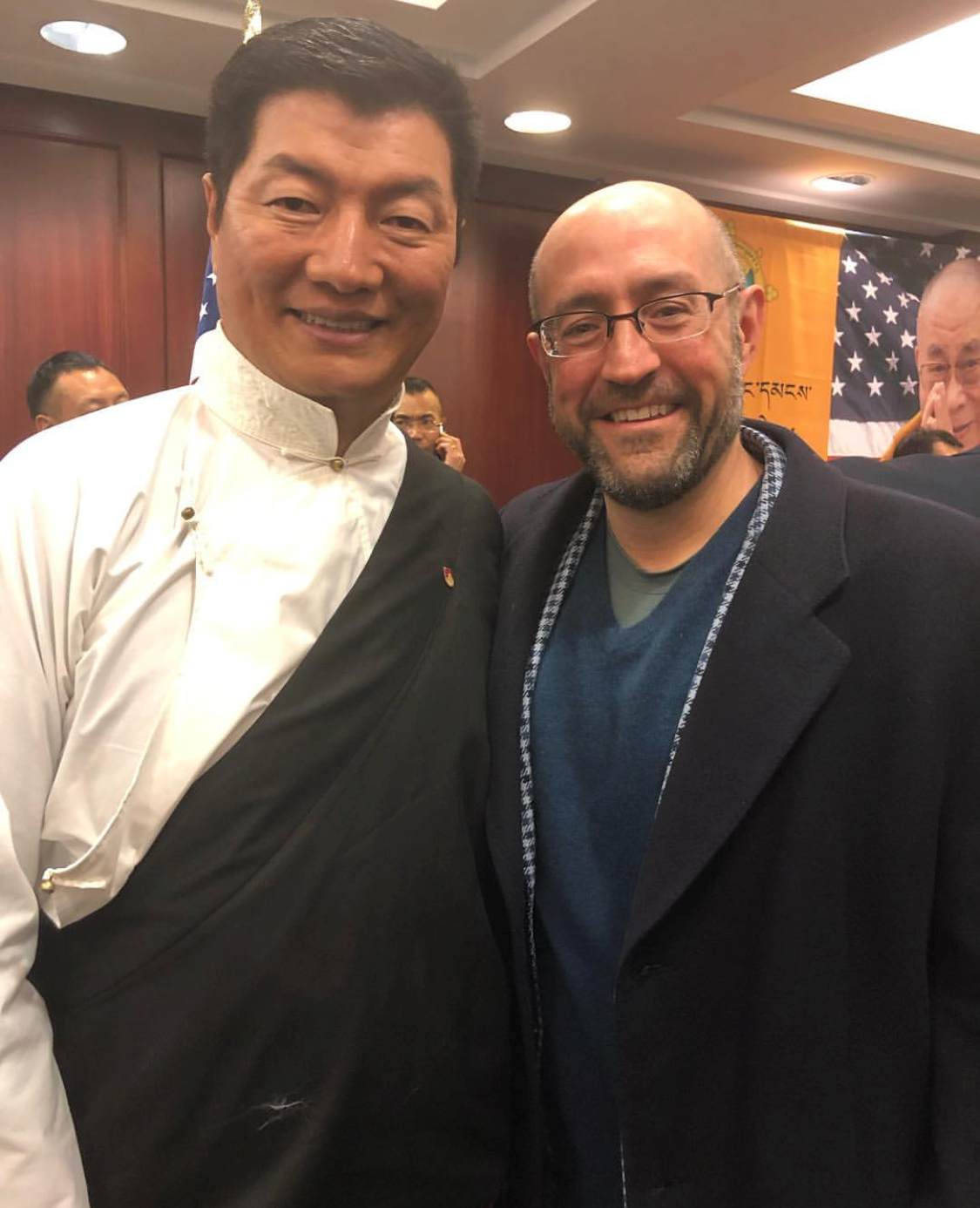RCI Dr. Lonsang Sangay, President of the Tibetan government-in-exile & Jay Rosenzweig 20190715.png
