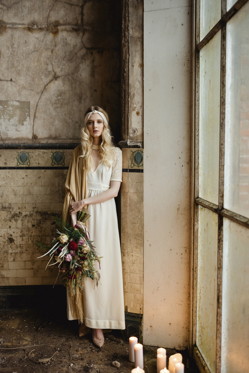 1930s inspired vintage bridal shoot - irish bohemian alternative wedding dresses