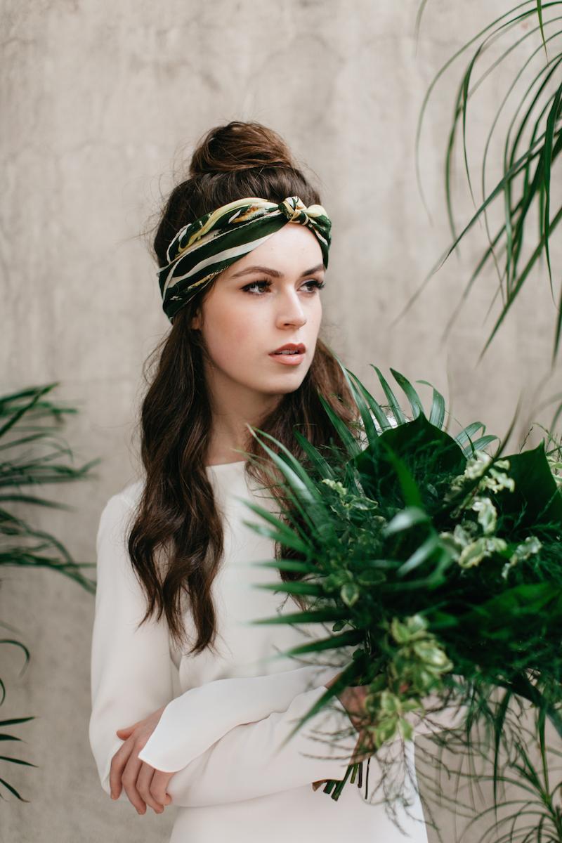 cool wedding dress - botanical bridal photoshoot from archive 12