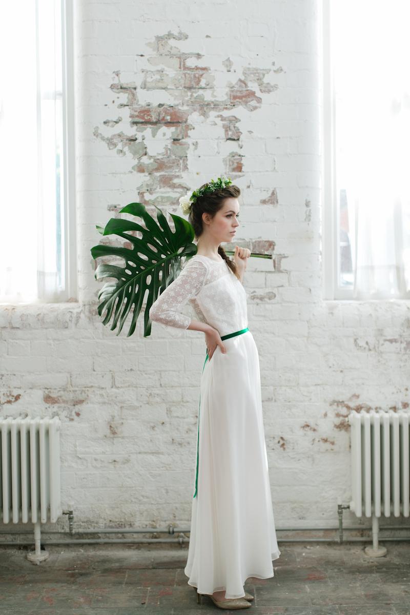 Brie dress by minna hepburn 2017 collection. cool modern boho brides