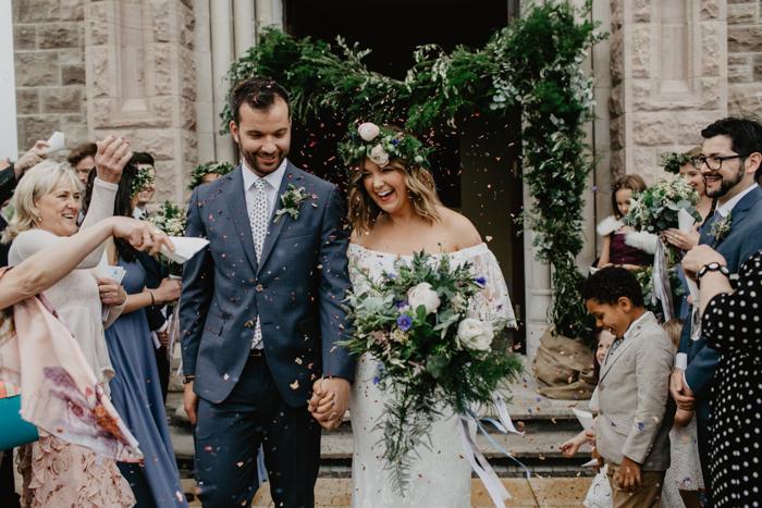 real irish weddings - daughter of simone