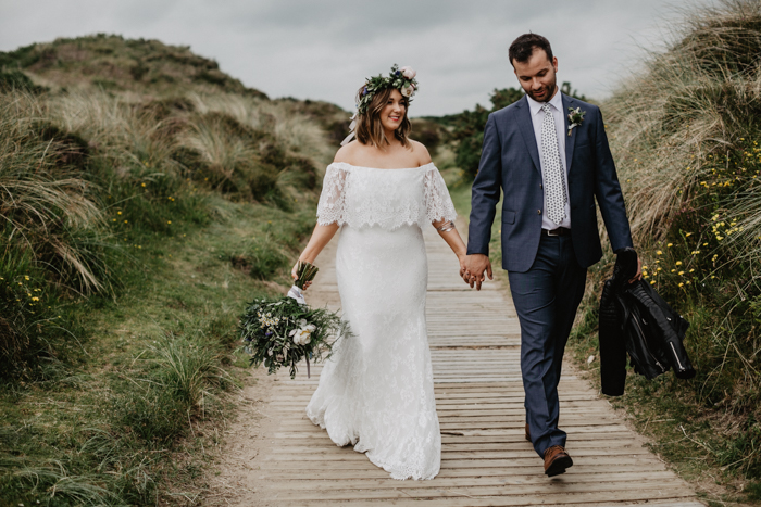 off the shoulder wedding dress - daughters of simone