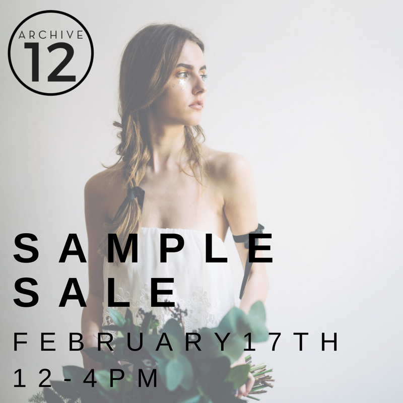 archive 12 bridal sample sale belfast