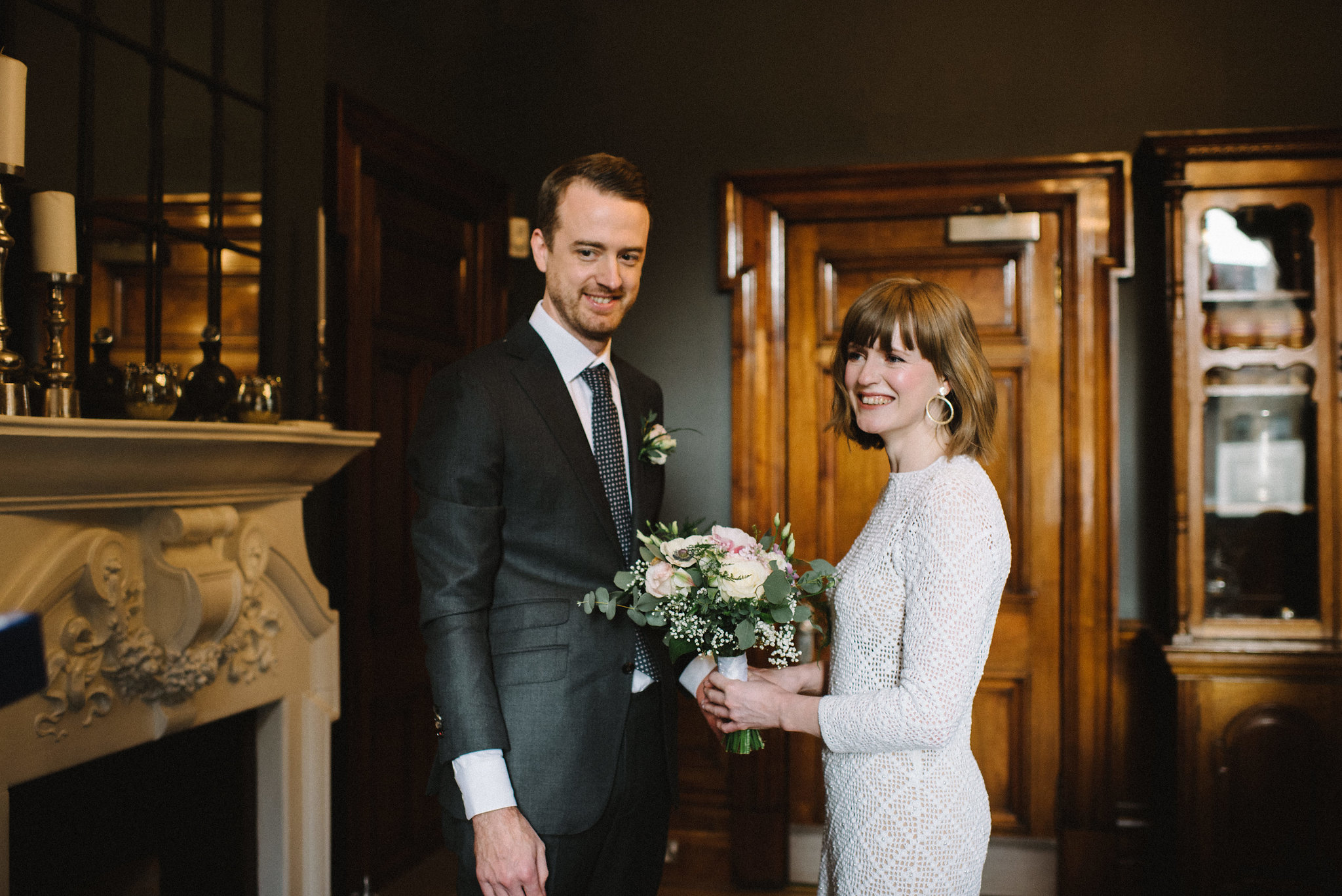 Real bride Nic wears 1960s vintage dress