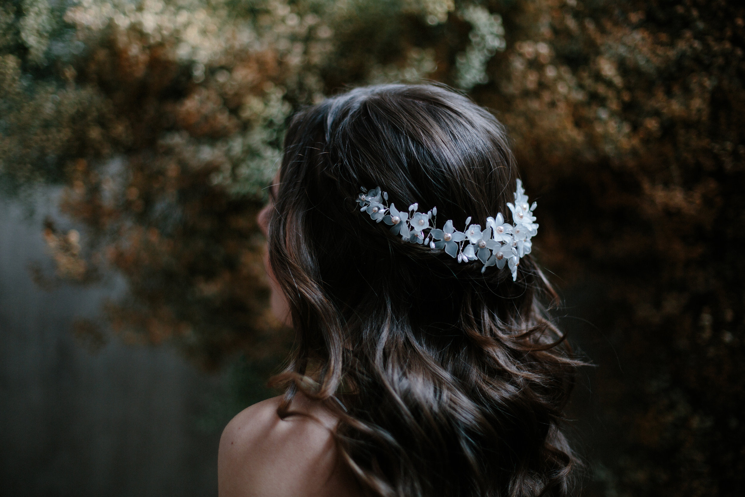 Blue Meadow Bride jennifer headpiece